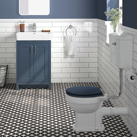 Chatsworth Blue 4-Piece Low Level Bathroom Suite