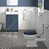 Chatsworth Blue 4-Piece Low Level Bathroom Suite profile small image view 1