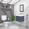 Chatsworth Blue Cloakroom Suite (Wall Hung Vanity Unit + Close Coupled Toilet) profile small image view 1
