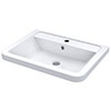 Nuie 600mm Ceramic Inset Basin - CBM003 profile small image view 1