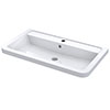 Nuie 800mm Ceramic Inset Basin - CBM005 profile small image view 1