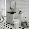 Chatsworth Black Marble Traditional Grey Vanity Unit + Toilet Package profile small image view 1