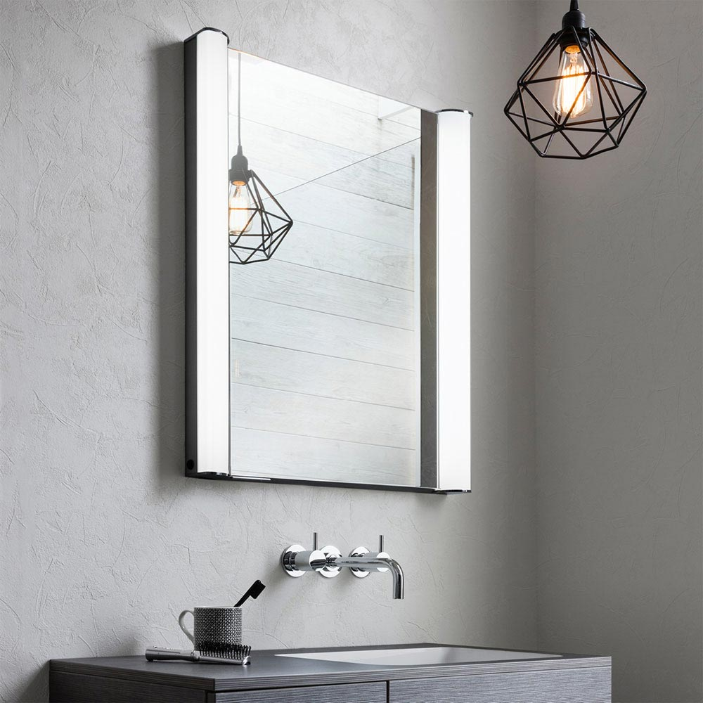 Bauhaus Duo 600 Illuminated Mirrored Cabinet - CBR6076AL Profile Large Image