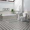 Carlton Traditional Bathroom Suite (1700 x 700mm) profile small image view 1