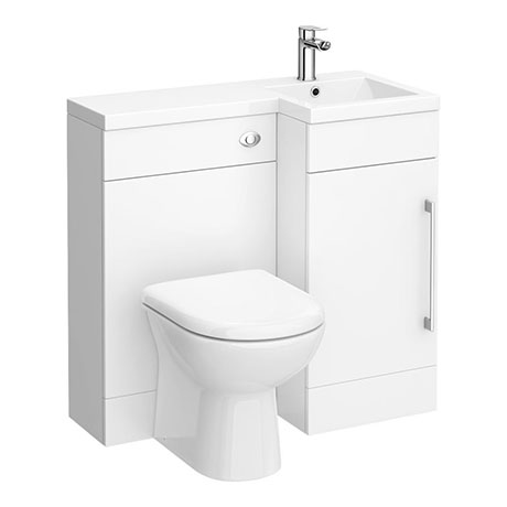 900mm Combination Bathroom Suite Unit + Round Toilet