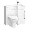 900mm Combination Bathroom Suite Unit + Round Toilet profile small image view 1