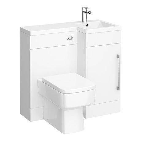 900mm Combination Bathroom Suite Unit + Square Toilet
