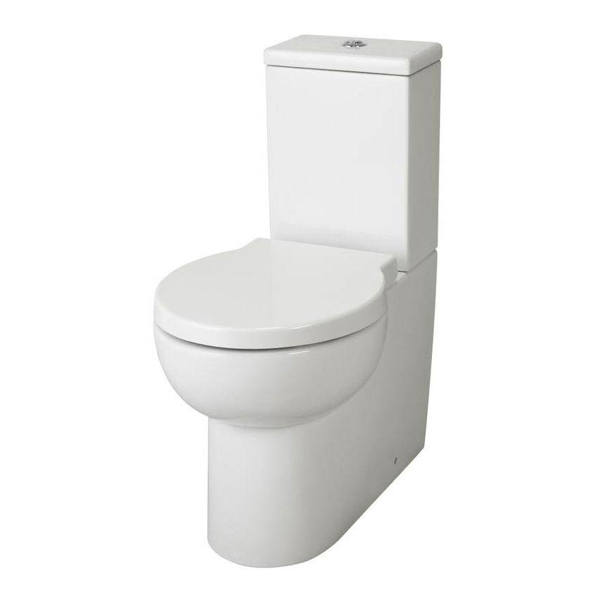 Hudson Reed - Langdon close coupled curved profile BTW pan with cistern & soft close seat Large Image