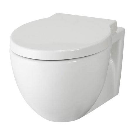 Hudson Reed - Langdon wall hung pan with soft close seat & wall fixings - CBU004