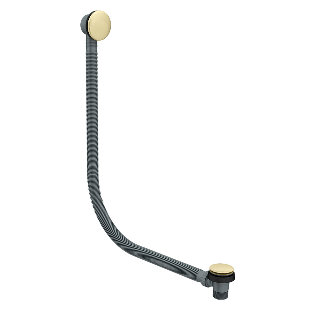 Arezzo Brushed Brass Easy Clean Click Clack Bath Waste with Overflow