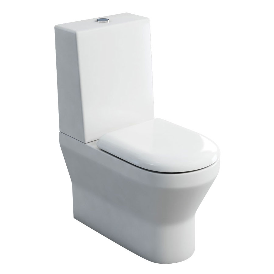 Britton Bathrooms - Curve S30 Close Coupled Toilet with One Piece Cistern & Soft Close Seat (Back to Wall) Large Image