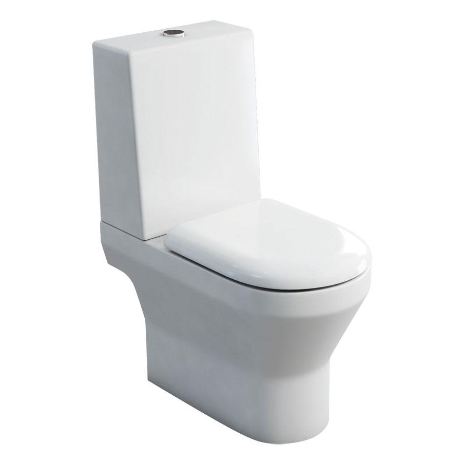 Britton Bathrooms - Curve S30 Close Coupled Toilet with One Piece Cistern & Soft Close Seat (Open Back) Large Image