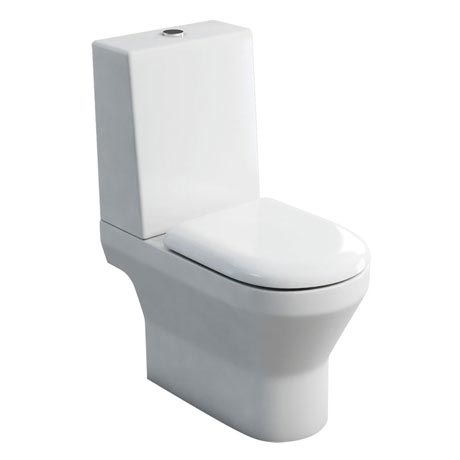 Britton Bathrooms - Curve S30 Close Coupled Toilet with One Piece Cistern & Soft Close Seat (Open Ba