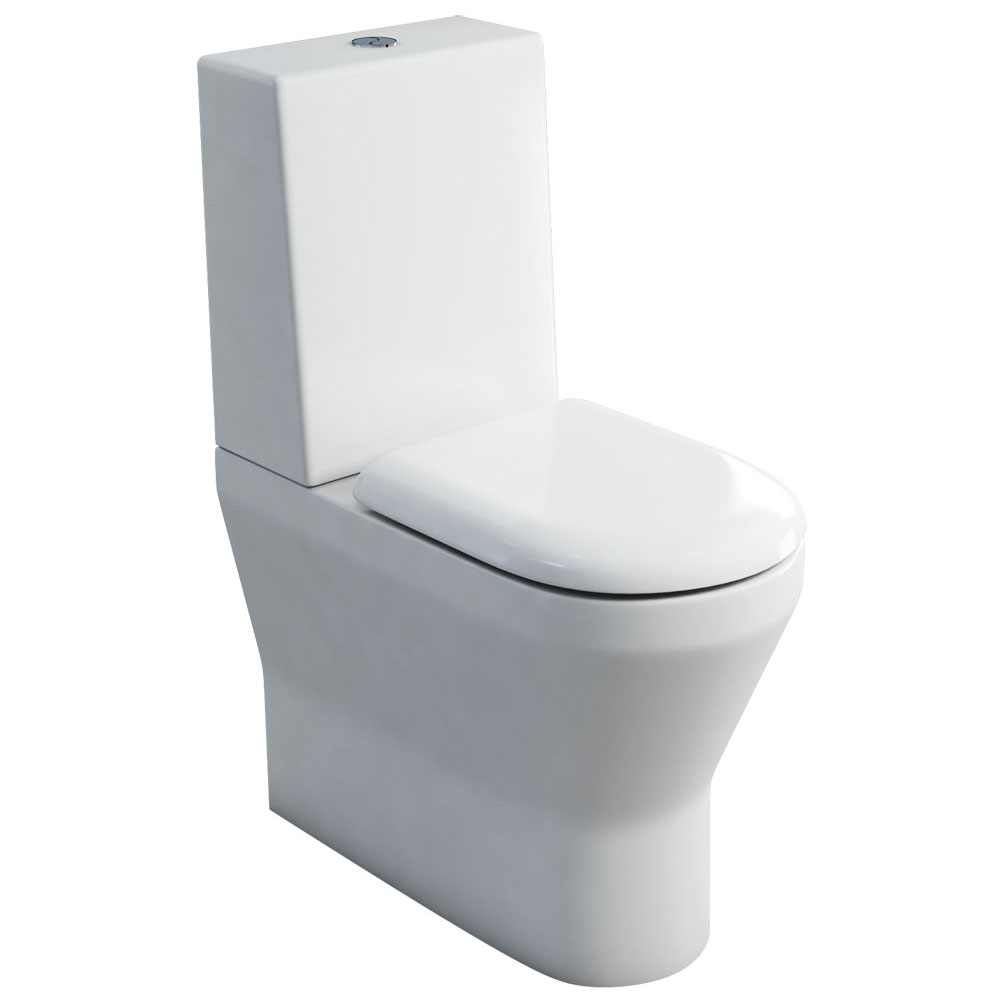 Britton Bathrooms - Tall S48 Close Coupled Toilet with One Piece Cistern & Soft Close Seat profile large image view 1