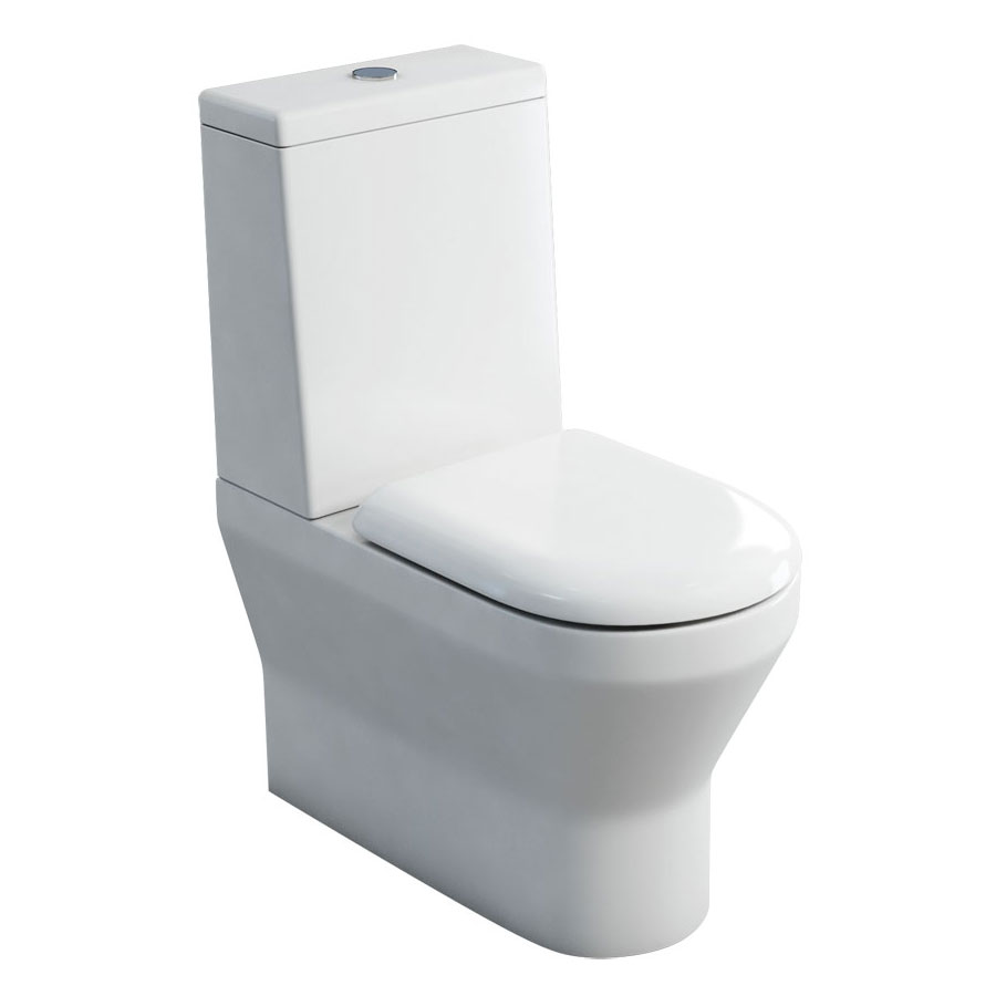 Britton Bathrooms - Curve S30 Close Coupled Toilet with Cistern & Soft Close Seat (Back to Wall) Large Image