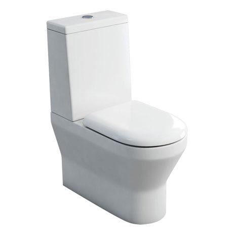 Britton Bathrooms - Curve S30 Close Coupled Toilet with Cistern & Soft Close Seat (Back to Wall)