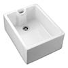 Rangemaster Classic Belfast Ceramic Kitchen Sink 595 x 455mm profile small image view 1