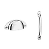 Chatsworth Chrome Handle Pack for 300mm Cupboard Unit profile small image view 1