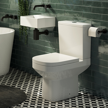 Cubetto 0TH Cloakroom Suite (Basin + Close Coupled Toilet)