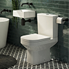 Cubetto Cloakroom Suite 0TH (Basin + Close Coupled Toilet) profile small image view 1