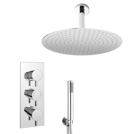 Cruze Shower Package (Inc. 400mm Ceiling Mounted Head + Wall Mounted Handset)