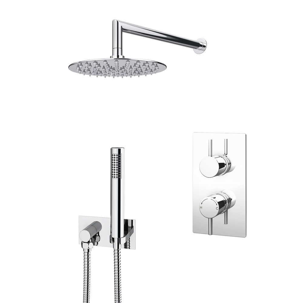 Cruze Shower Pack (inc. 200mm Wall Mounted Head, Wall Outlet Elbow + Shower Handset)