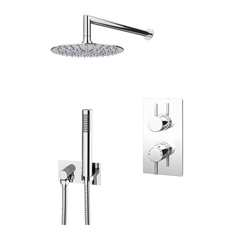 Cruze Shower Package (Inc. 200mm Wall Mounted Head, Wall Outlet Elbow + Shower Handset)