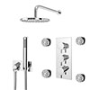 Cruze Shower Pack (Inc. 200mm Wall Mounted Head, 4 Body Jets, Outlet Elbow + Handset) profile small image view 1