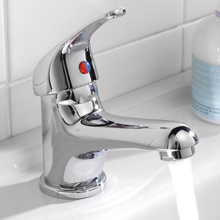 Ultra Solo Single Lever Mono Basin Mixer w/ Push Button Waste - Chrome - CD315 Feature Large Image