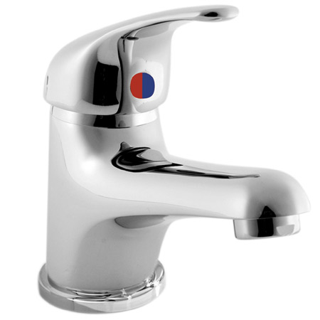Ultra Solo Single Lever Mono Basin Mixer w/ Push Button Waste - Chrome - CD315 Large Image