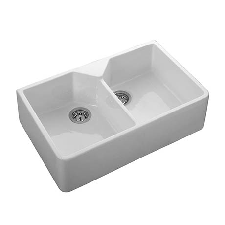 Rangemaster Double Bowl Belfast Ceramic Kitchen Sink