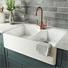 Rangemaster Double Bowl Belfast Ceramic Kitchen Sink profile small image view 1