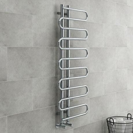 Kai Designer Heated Towel Rail 1310mm x 500mm Chrome