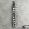 Kai Designer Heated Towel Rail 1310mm x 500mm Chrome profile small image view 1