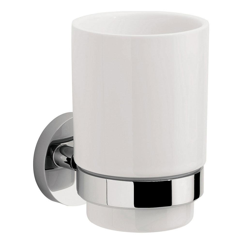 Crosswater - Central Ceramic Tumbler and Holder - CE003C+