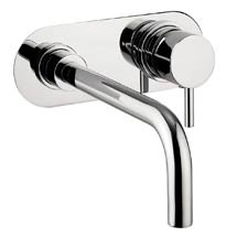 Crosswater - Central Wall Mounted 2 Hole Set Basin Mixer - CE121WNC Medium Image