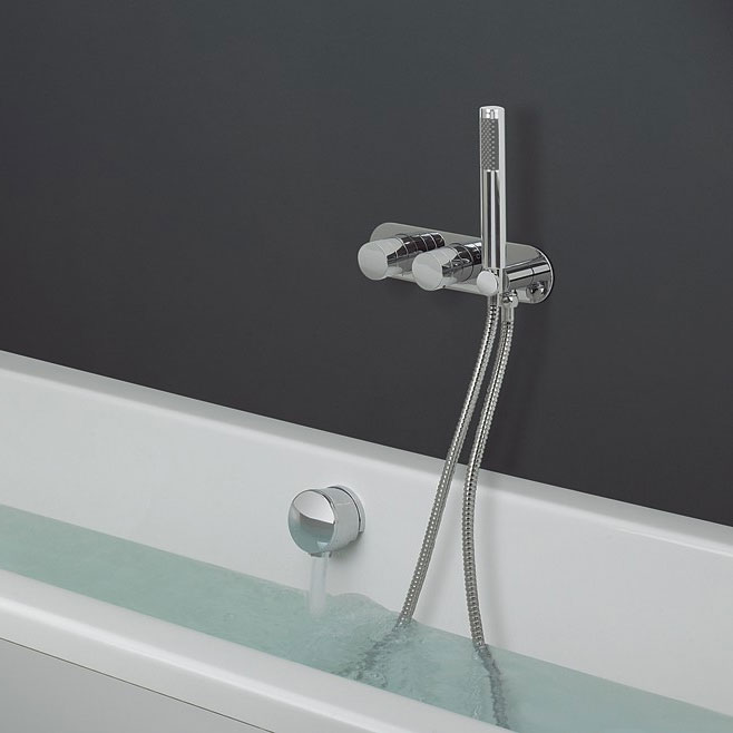 Crosswater - Central Wall Mounted Thermostatic Shower Valve with Handset - CE1701RC profile large image view 2