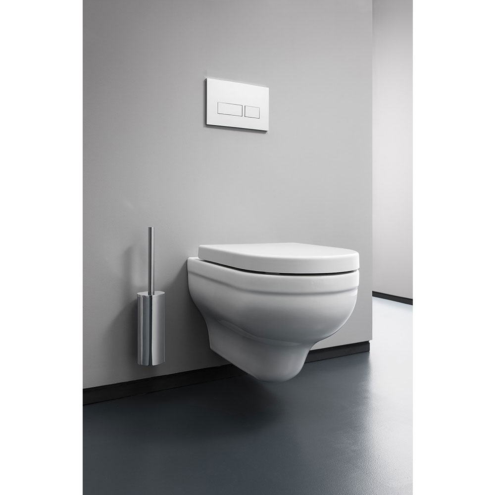 Bauhaus - Central Wall Hung Pan with Soft Close Seat Feature Large Image