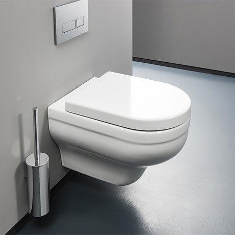 Bauhaus - Central Wall Hung Pan with Soft Close Seat