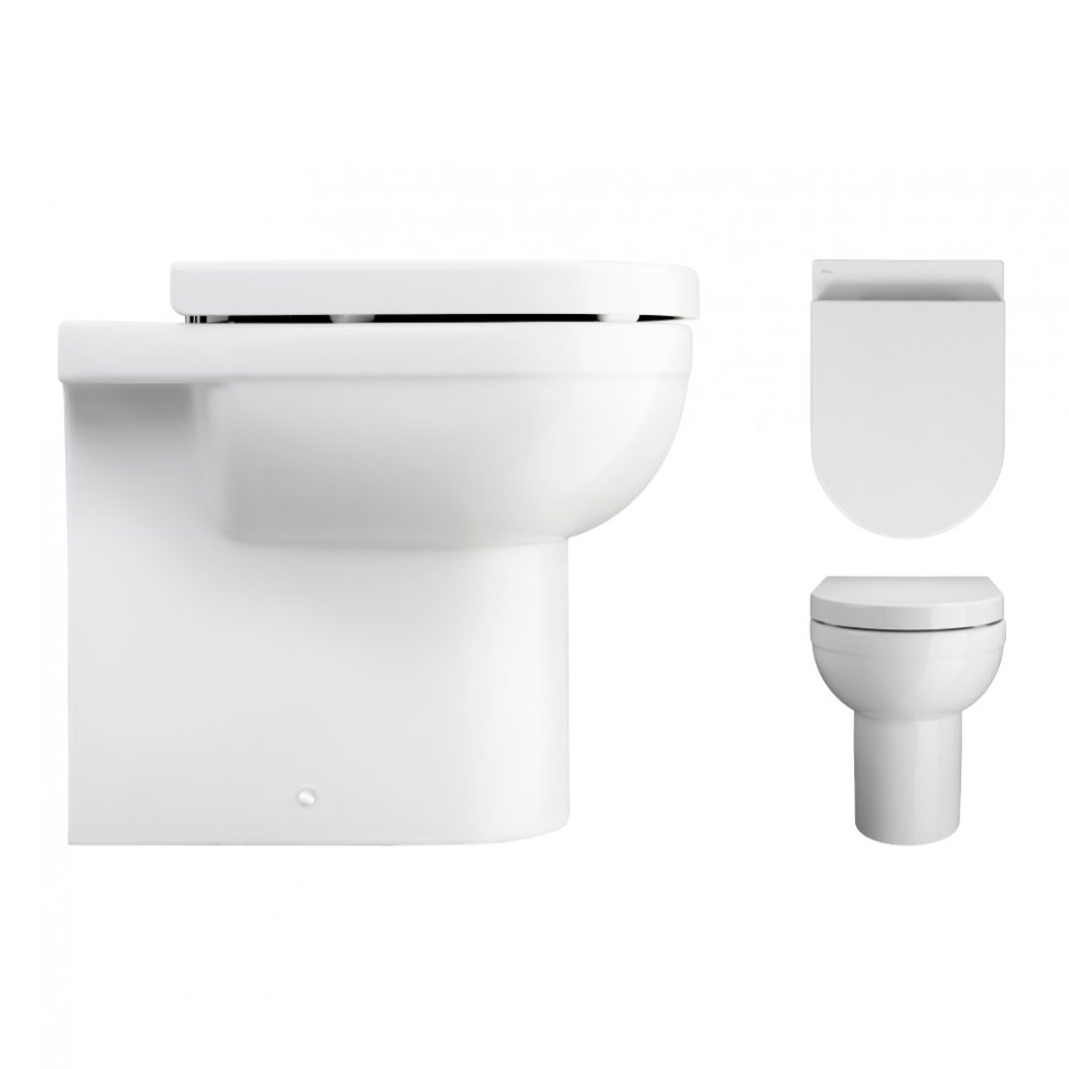 Bauhaus - Central Back to Wall Pan with Soft Close Seat Profile Large Image
