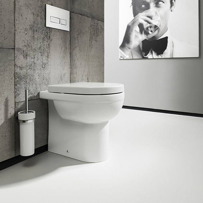 Bauhaus - Central Back to Wall Pan with Soft Close Seat Large Image