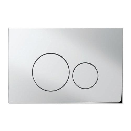 Bauhaus - Central Dual Flush Plate - Various Colour Options Large Image