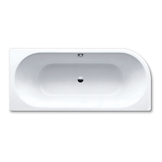 Kaldewei - Centro Duo 1 Steel Bath with Leg Set - No Tap Hole Large Image
