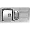 Reginox Centurio L15 1.5 Bowl Stainless Steel Integrated Kitchen Sink profile small image view 1