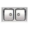 Reginox Centurio L20 2.0 Bowl Stainless Steel Integrated Kitchen Sink profile small image view 1