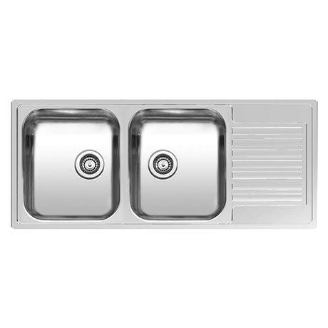 Reginox Centurio L30 2.0 Bowl Stainless Steel Integrated Kitchen Sink with Drainer