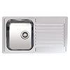 Reginox Centurio L10 1.0 Bowl Stainless Steel Integrated Kitchen Sink profile small image view 1