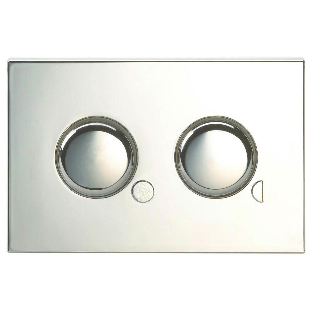 Twyford Dual Flush Mini Plate Push Button - Chrome Large Image