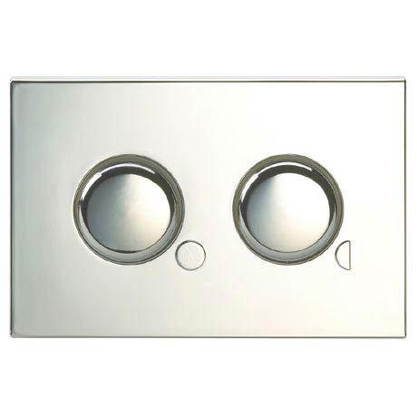 Twyford Dual Flush Mini Plate Push Button - Chrome