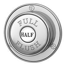 Chatsworth Traditional Dual Flush Push Button - Chrome Plated Medium Image